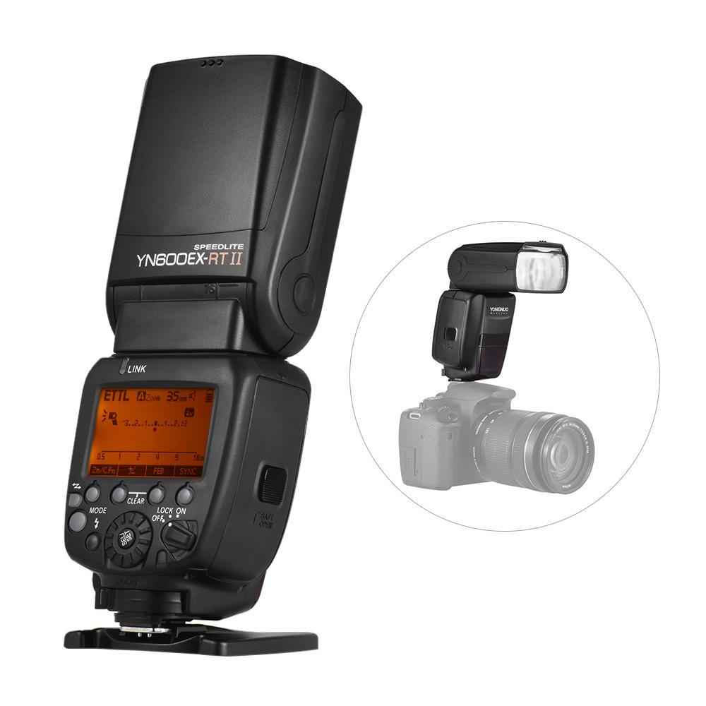 YONGNUO YN600EX-RT II Canonのための2.4GワイヤレスHSSマスターTTLフラッシュスピードライト