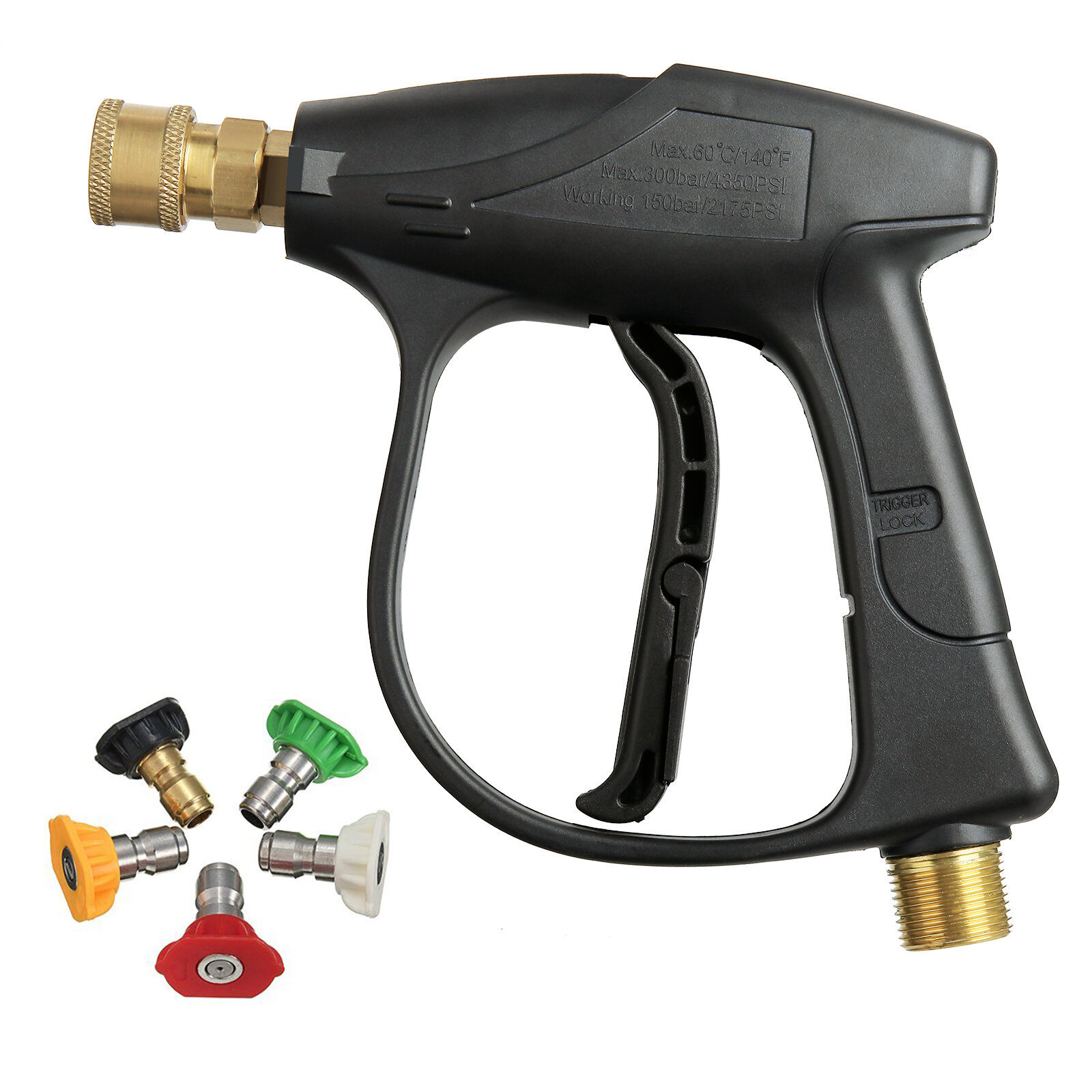 MATCC 200BAR/3000PSI High Pressure Washer With 5 Nozzles for Car Pressure Power Washers