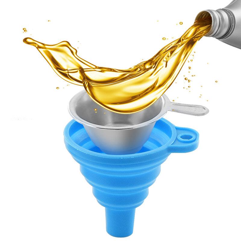 TWO TREES® Collapsible Silicone Funis e copos de filtro de resina de aço inoxidável para despejar a resina de volta na g