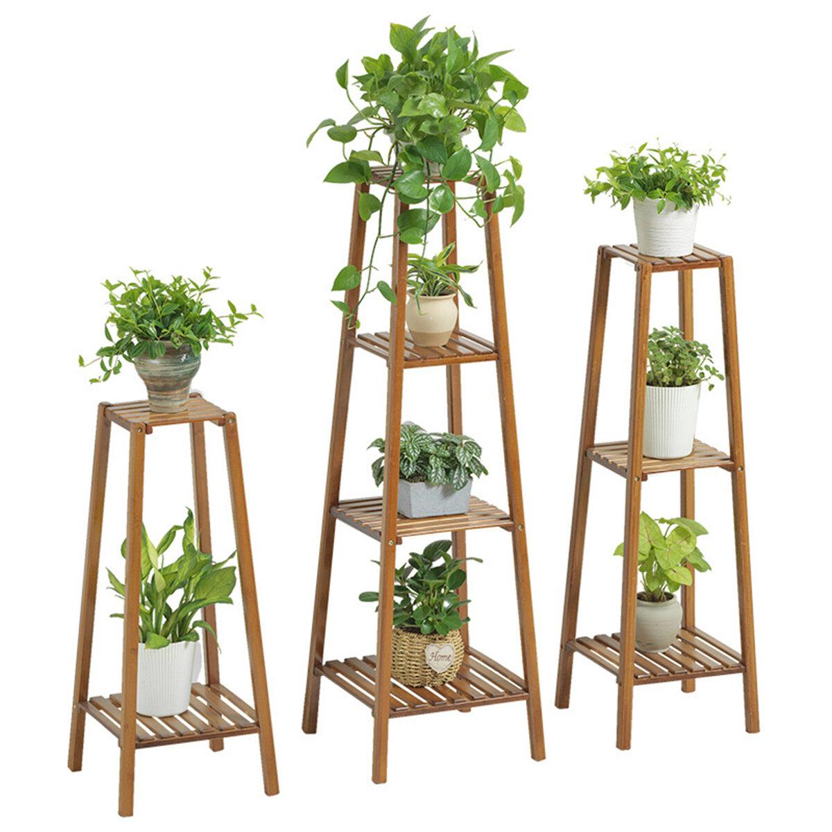 2 3 4 Tier Flower Pot Stand Wooden