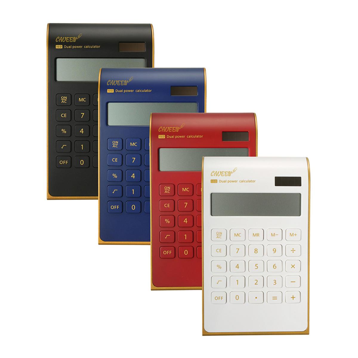 NNRTS Creative Portable Ultra-thin Gold Frame Calculator Solar Energy Caculator Stationery Set