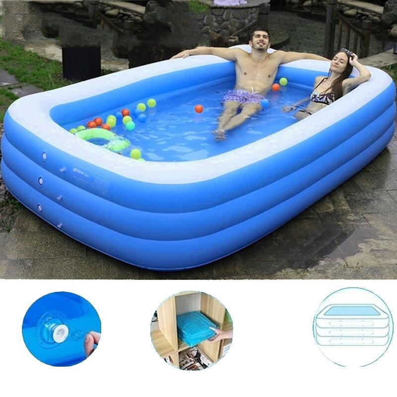 1.5/2.1/3.05M 3 Layers Portable Inflatable Swimming PoolAdults Kids Bath Bathtub Foldable Outdoor Indoor Bathroom SPA