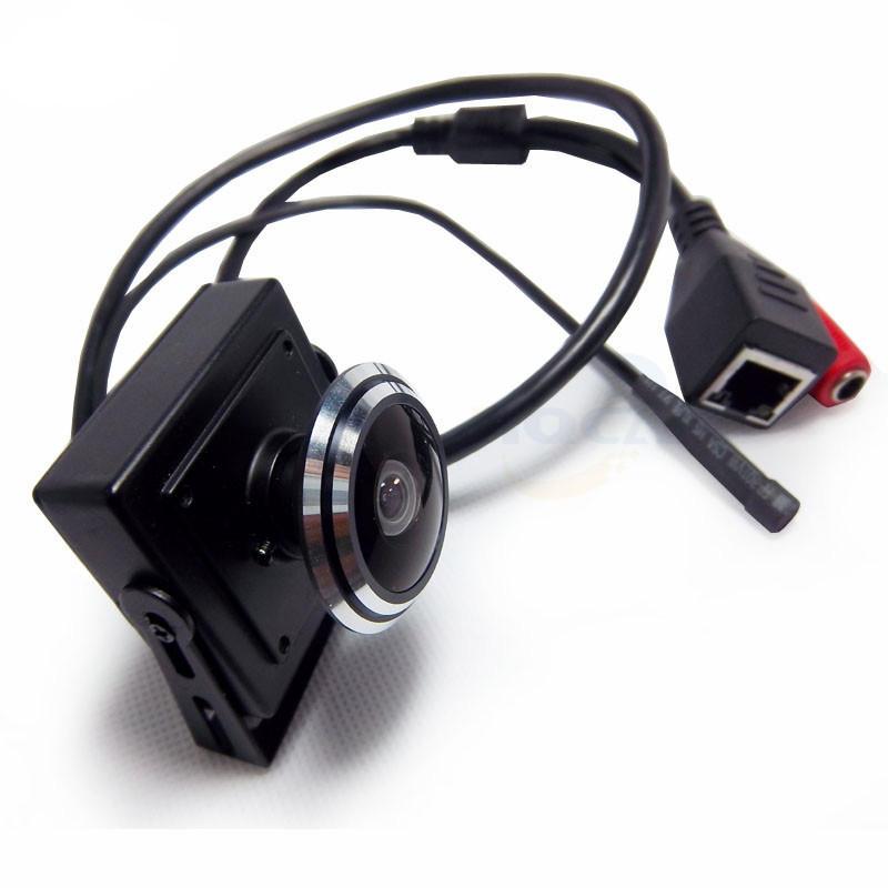 HQCAM 1080P Audio Video Cámara MINI IP Cámara H.264 Micrófono Cámara P2P Red 1.78mm Gran Angular Ojo de Pez Lente