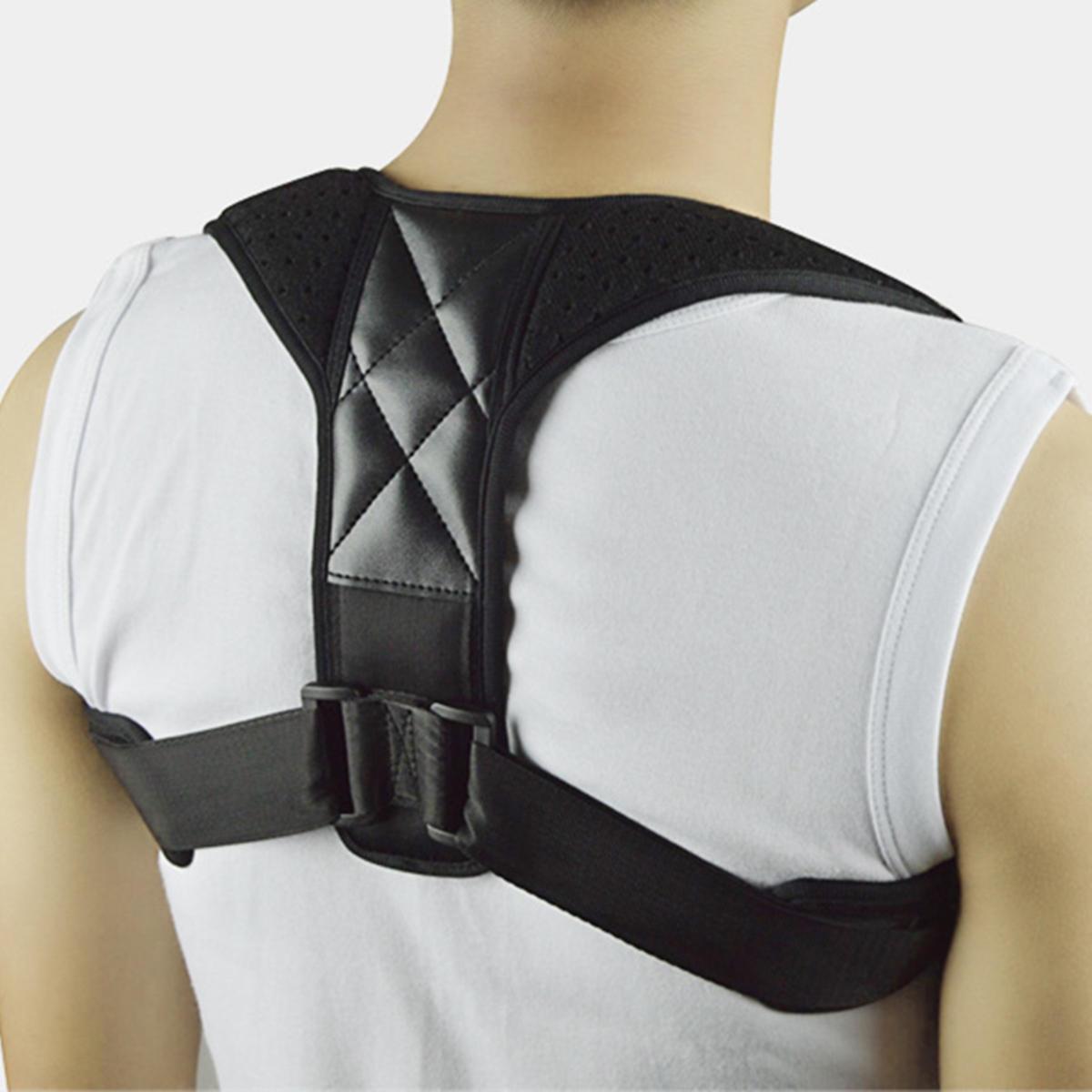 Correttore regolabile per postura per uomini e donne Supporto per clavicola per raddrizzare lo schienale della parte superiore della schiena