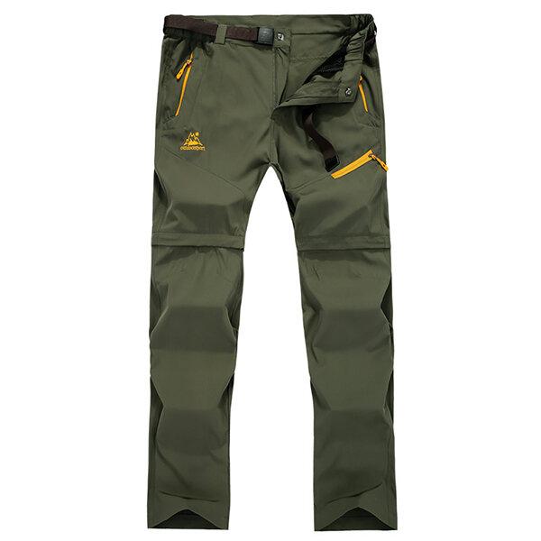 आउटडोर डिटेक्टेबल क्विक-ड्राईइंग पैंट मेन्स सांस लेने योग्य लूज क्लाइंबिंग पैंट प्लस साइज