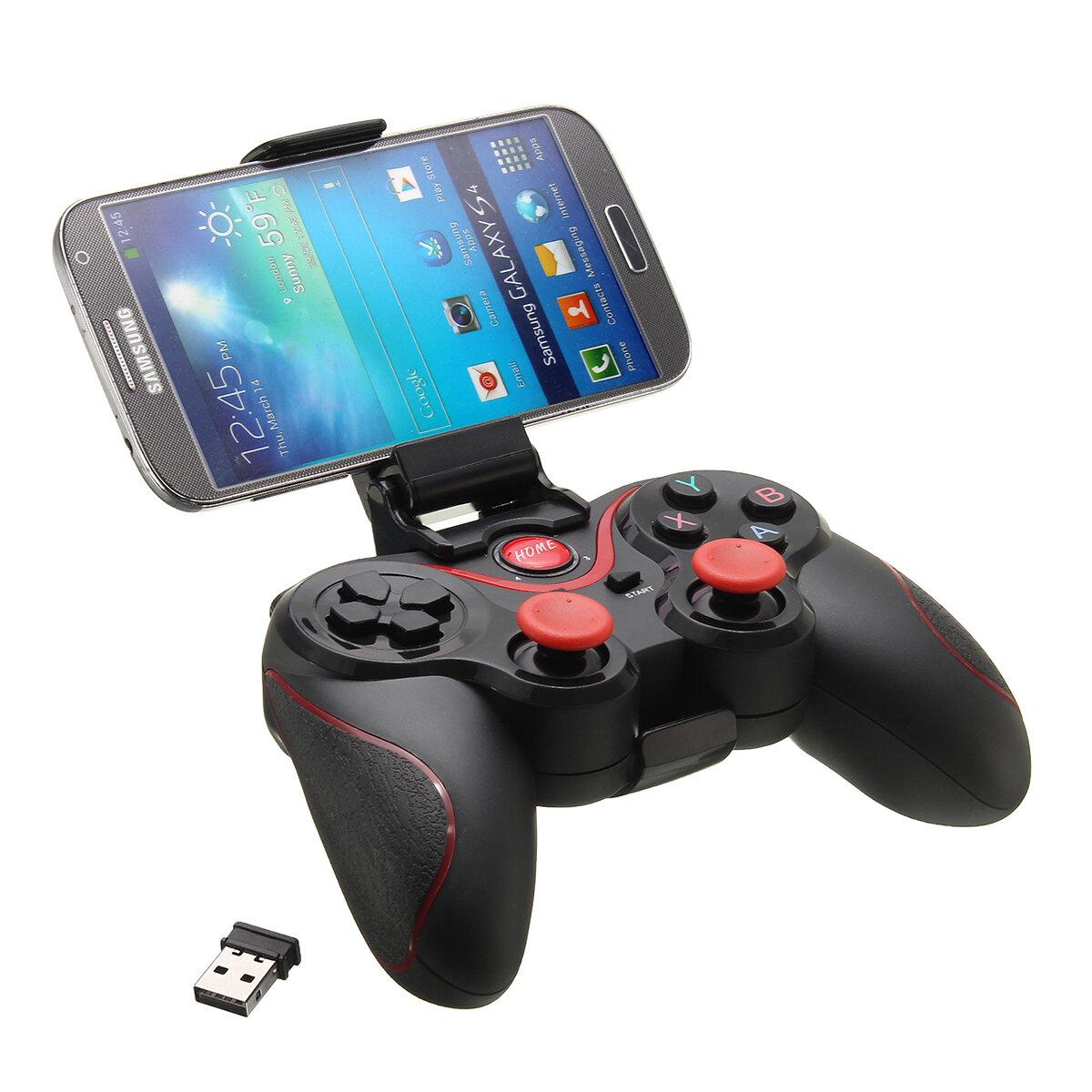 C8 Wireless Bluetooth 3.0 Game Pad Bộ điều khiển trò chơi + Giá đỡ + Bộ thu cho Máy tính bảng điện thoại thông minh Android