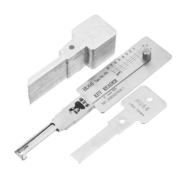 DANIU HU66 3 i 1 Dörrlås Plocka avkodningsverktyg Låsverktyg