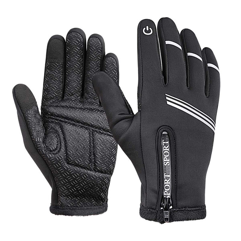 WHEEL UP Touch Screen Full-finger Cycling Bicycle Gloves Windproof Thermal Bike Motorcycle