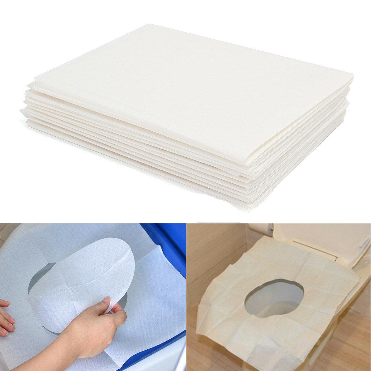 10 stk toilet sædebetræk papir rejse biologisk nedbrydelig disponibel hygiejne