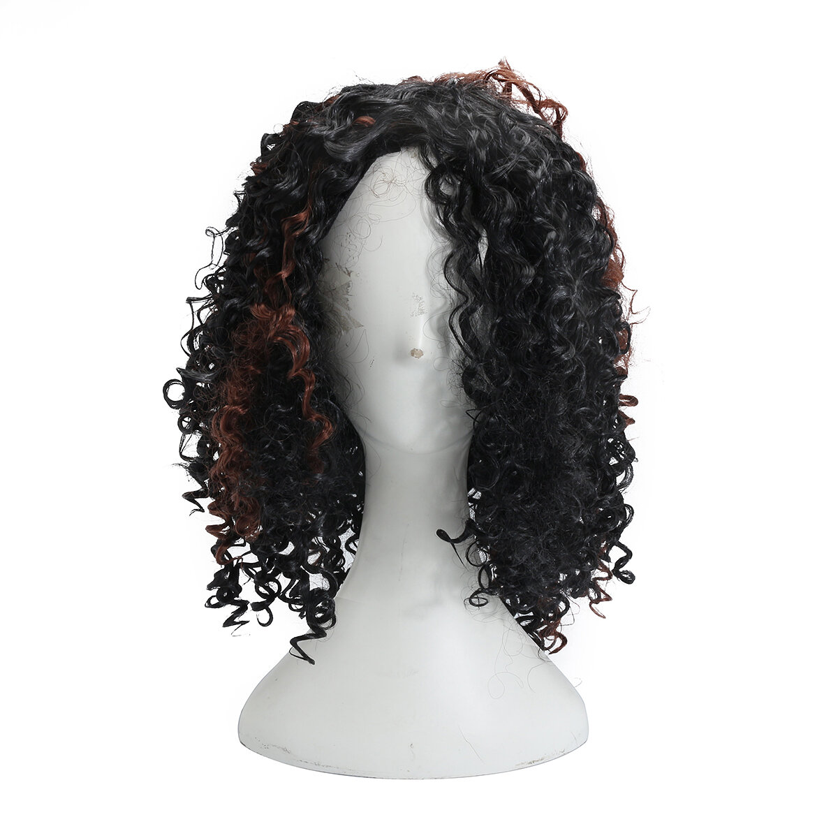Brazilian Black Brown Hair Deep Bergelombang Keriting Renda Depan Wig Penuh