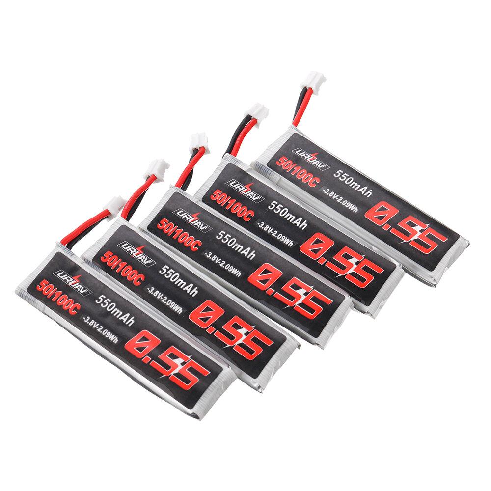 5個URUAV 3.8V 550mAh 50 / 100C 1S HV 4.35V PH2.0 Lipoバッテリー(Emax Tinyhawk用)Kingkong / LDARC TINY