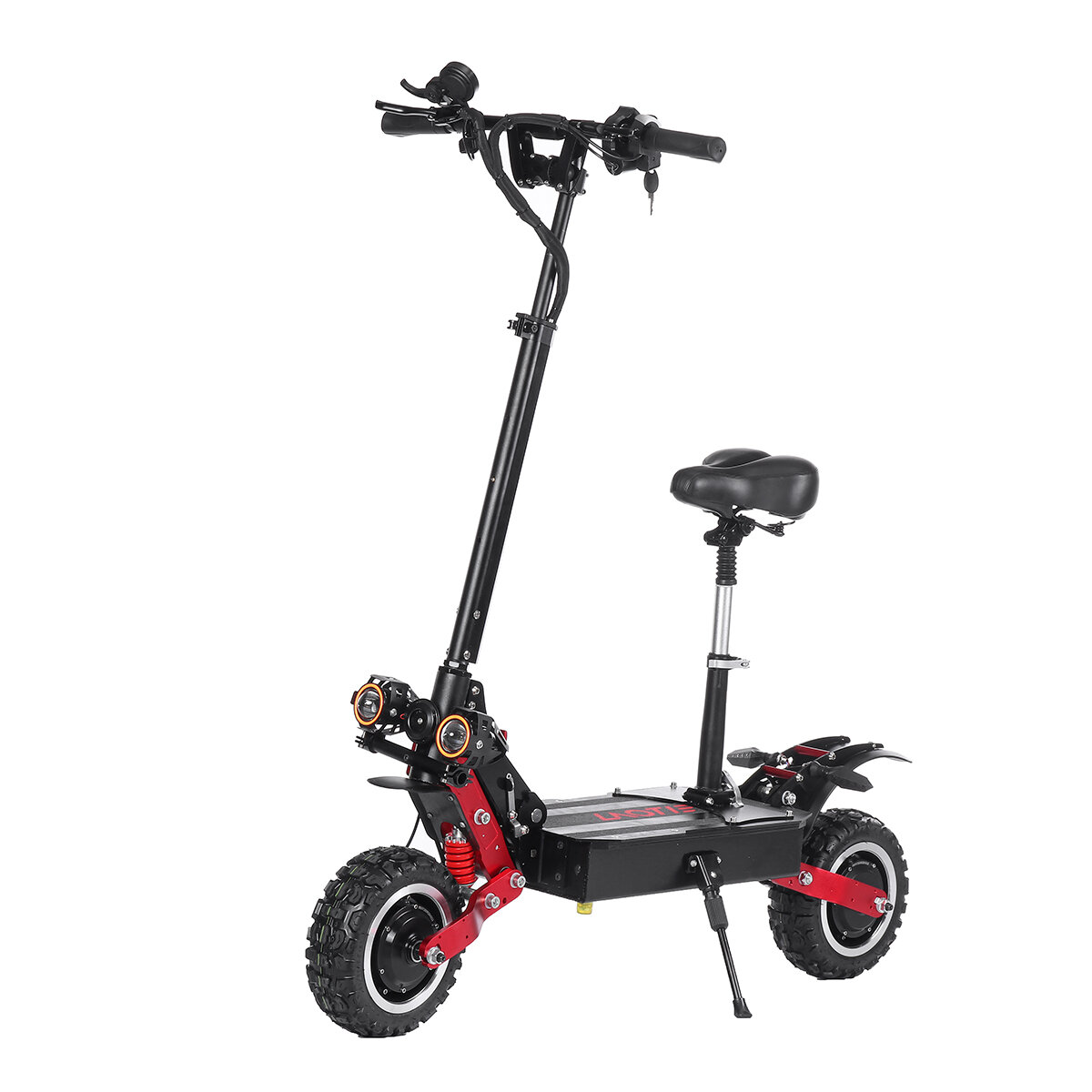 LAOTIE® ES18P 60V 21700 Battery 33.6Ah 2800W*2 Dual Motor Foldable Electric Scooter With Saddle 85Km/h Top Speed 120km Mileage 200kg Bearing EU Plug