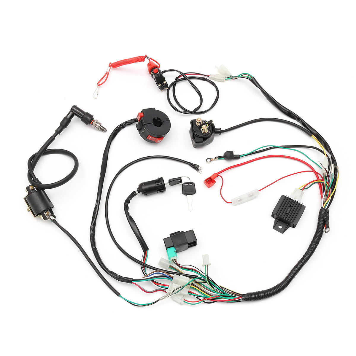 Wiring Harness Loom Solenoid Coil Rectifier CDI 50cc 70cc 110cc 125cc on