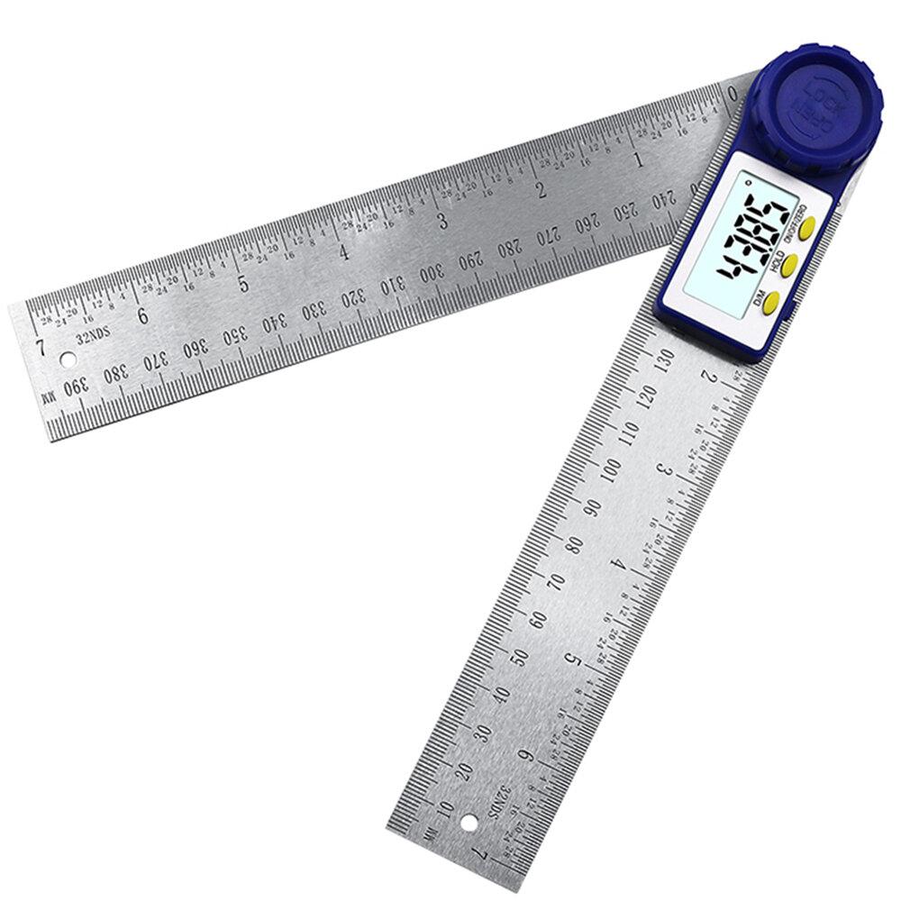0-200mm Digital Angle Finder Protractor Goniometer Electronic Gauge Ruler 0~360°