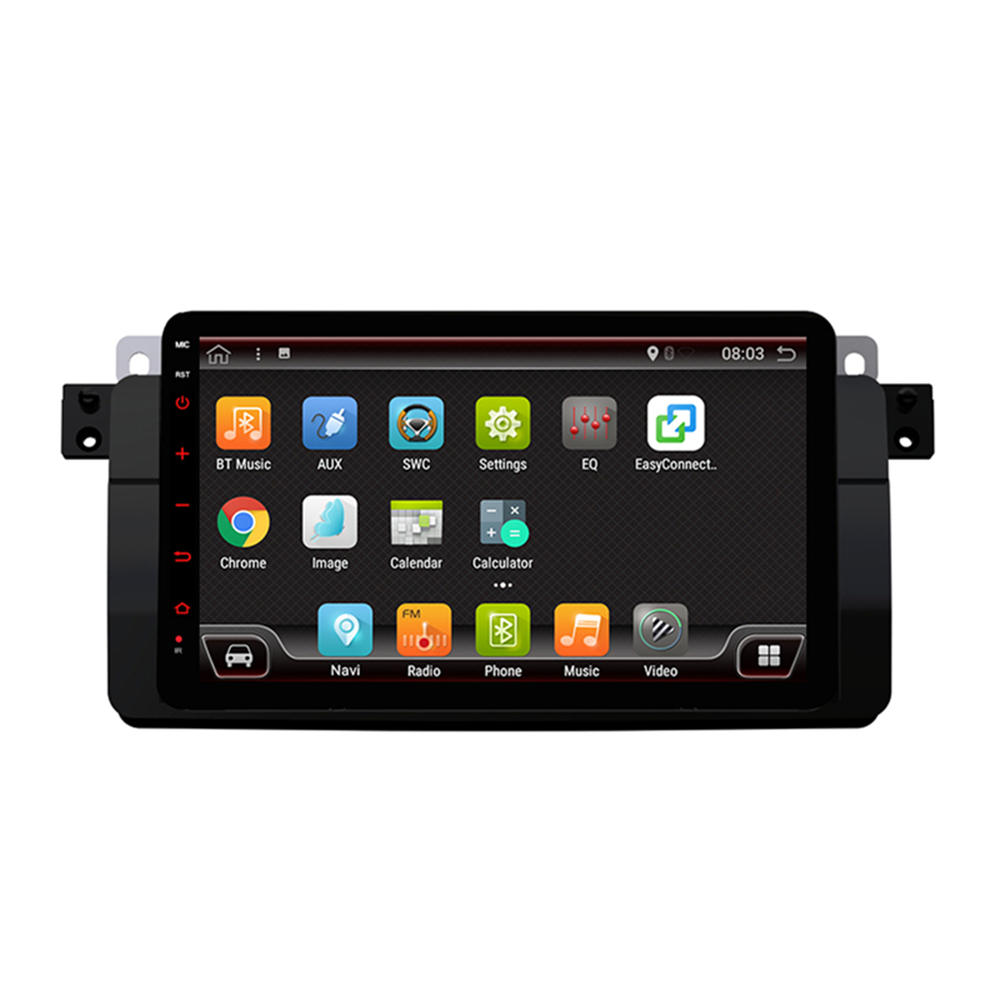 PX6 8インチ4 + 64G for Android 9.0カーステレオラジオ6コア1 DIN IPS MP5プレーヤーブルートゥースGPS WIFI 4G RDS for BMW E46