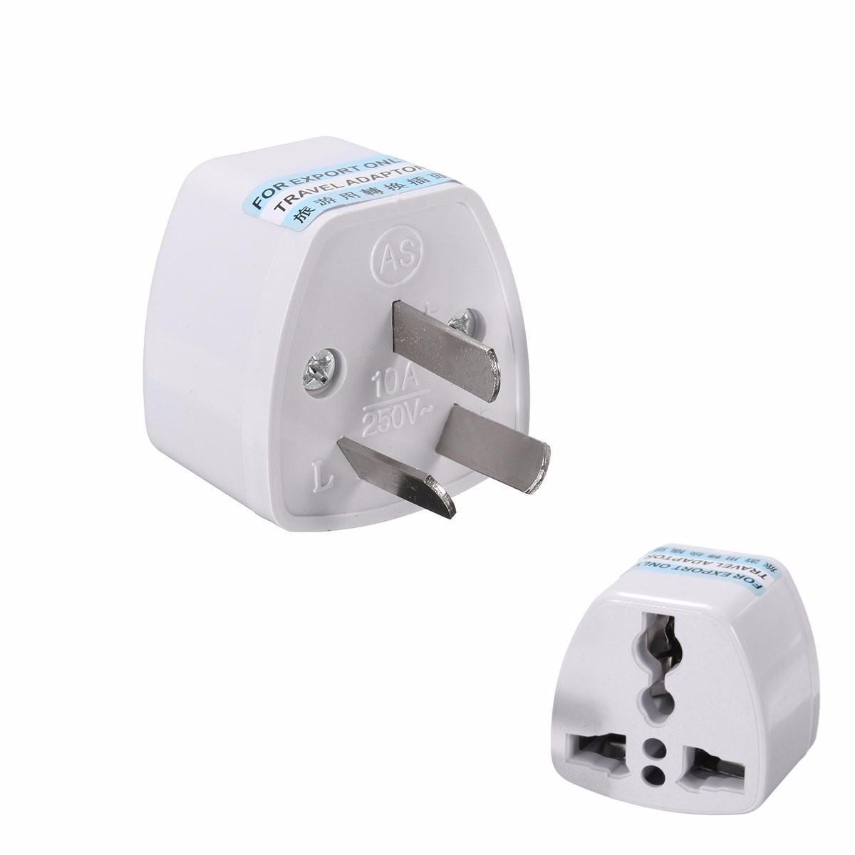 5pcs Universal Power Plug Travel Adapter 3 Pin Converter 250V 10A US UK EU to AU AC