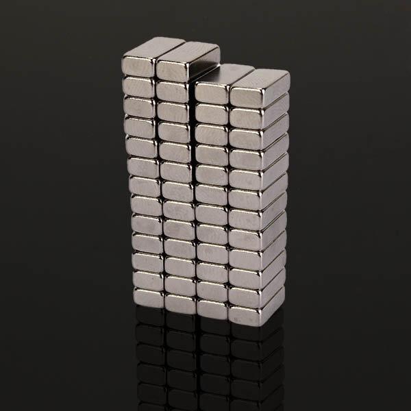 50 cái N48 Nam châm khối siêu mạnh 10 mm x 5 mm x 3 mm Nam châm Neodymium đất hiếm