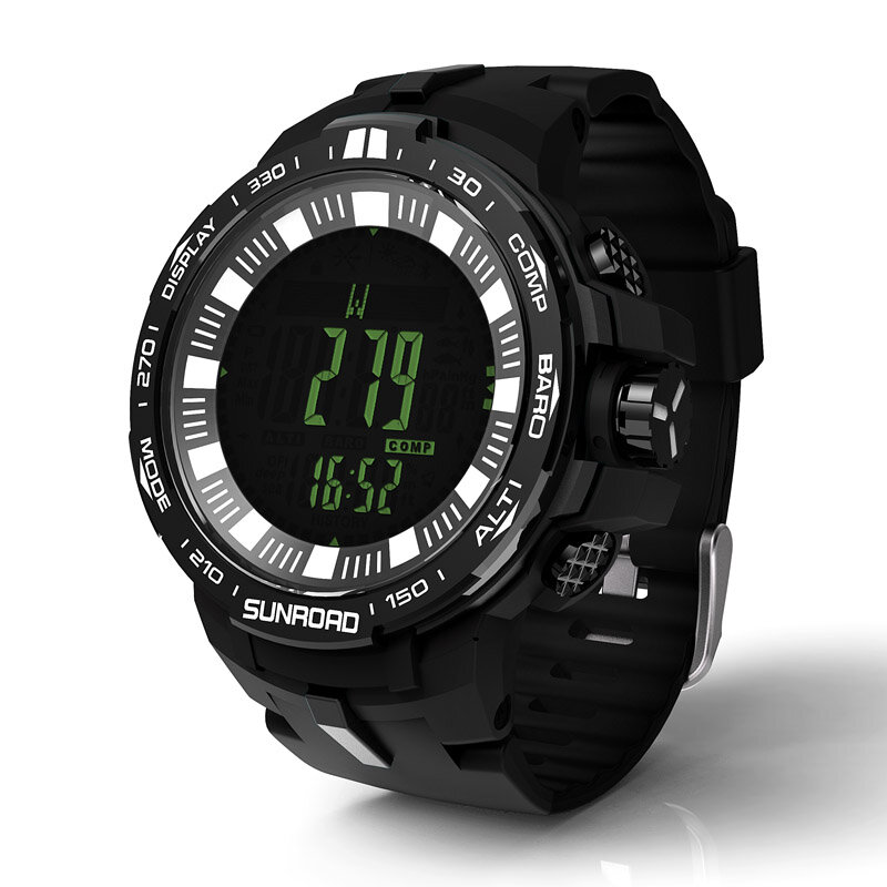 Sunroad FR861 Fishing Kompas Waterproof Men digital Watch