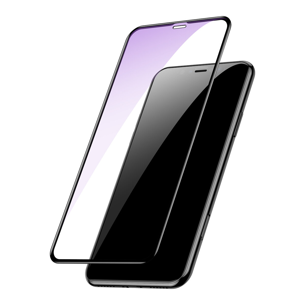 pretty nice b3345 71291 Baseus 0.2mm Full Screen Arc Surface Clear/Anti Blue Light Tempered Glass  Screen Protector For iPhone XS Max