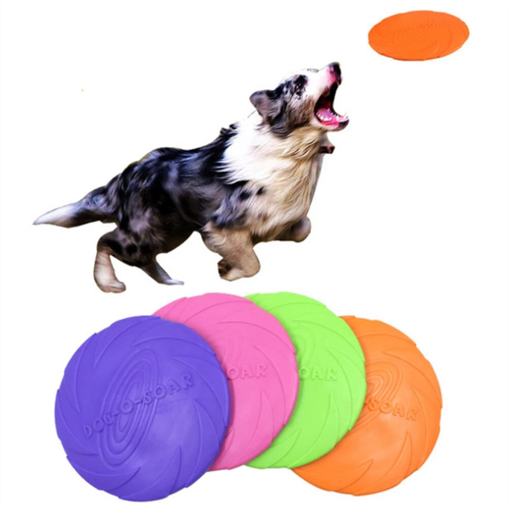 Interactive Dog Chew Toys Resistance Bite Soft Rubber Puppy Pet Toy for Dogs Pet Training Products Dog Flying Discs