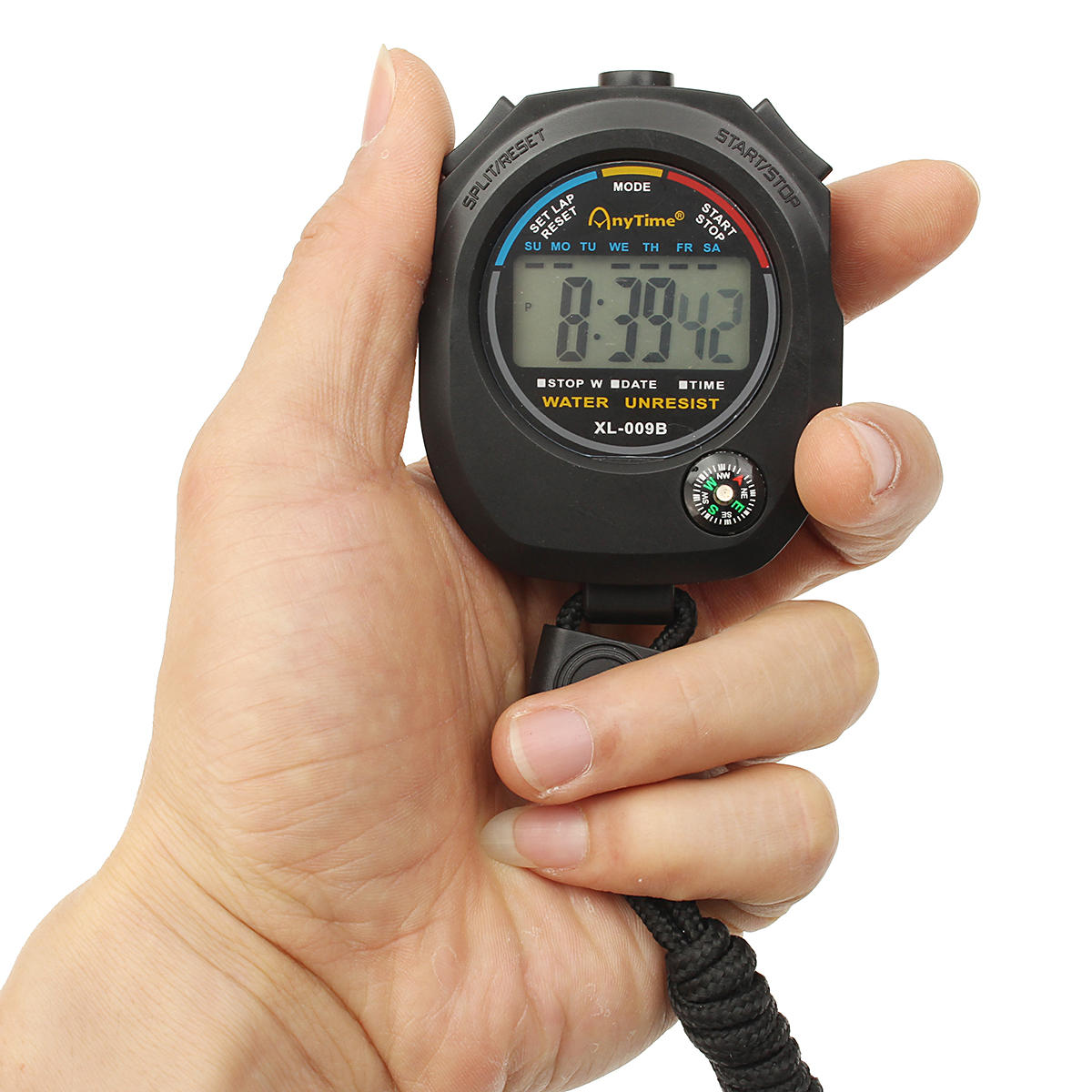 Waterproof Handheld LCD Sports Stopwatch Digital Chronograph Digital Counter Timer