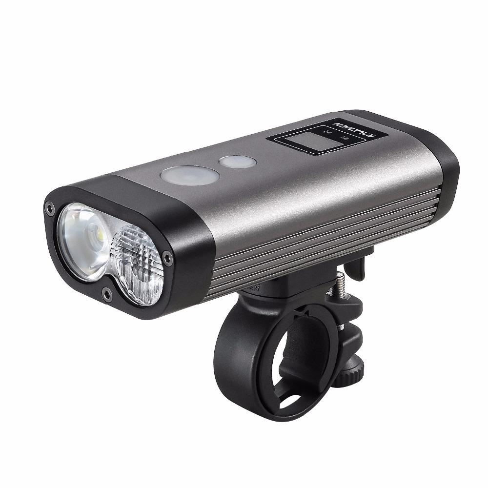 RAVEMEN PR1200 1200LM 2*L2 Simulation Design of Automotive Bike Light 3 Modes 8 Brightness Levels