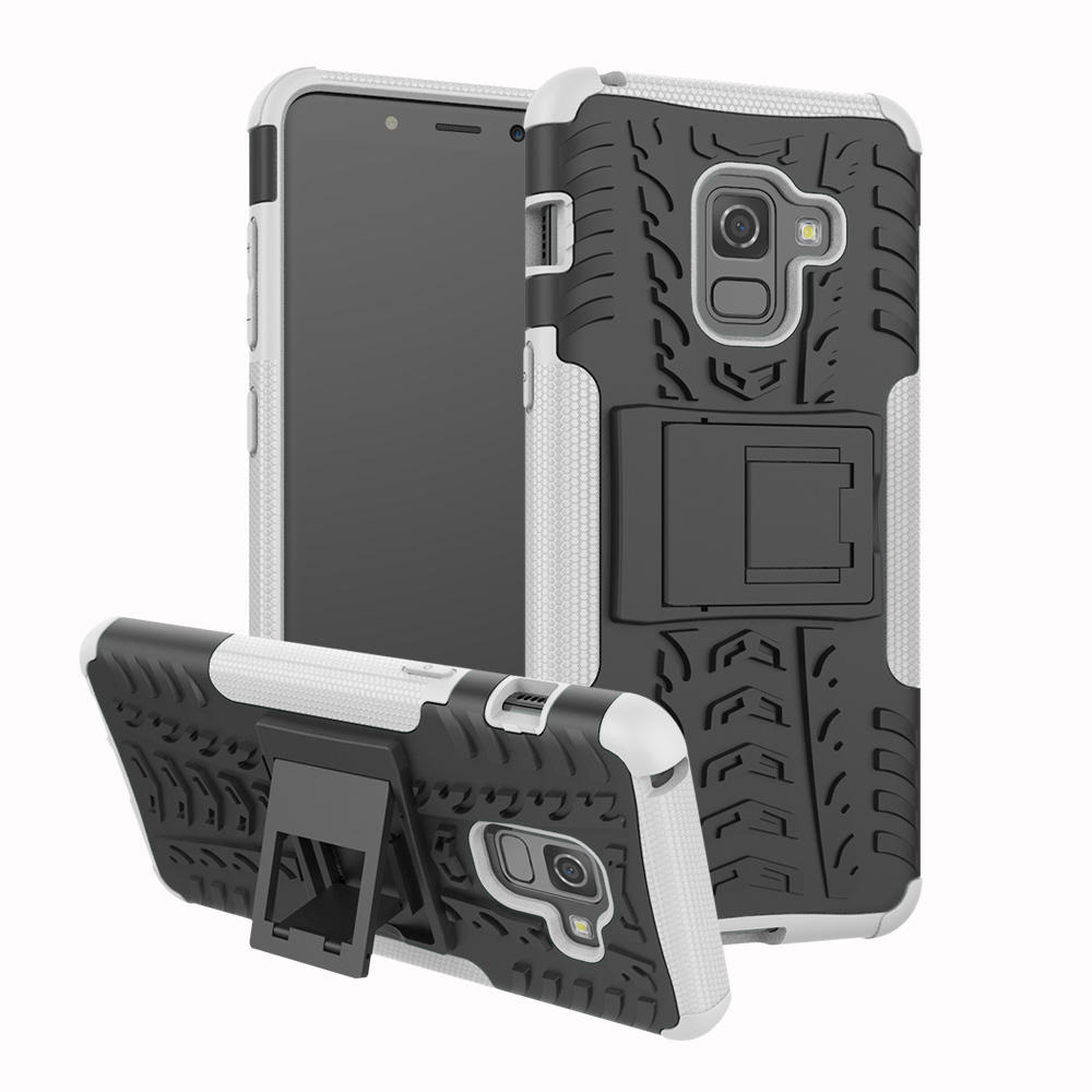 new arrival 12587 0f134 Bakee 2 in 1 Armor Kickstand TPU PC Protective Case for Samsung Galaxy A8  2018