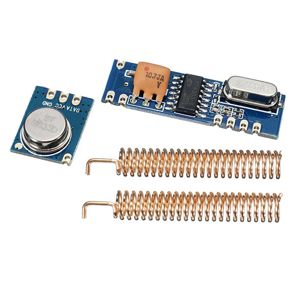 433MHz 100M Wireless Remote Control Transceiver Module Kit ASK Transmitter STX882 + ASK Receiver SRX882 + 2pcs Copper Spring Antenna