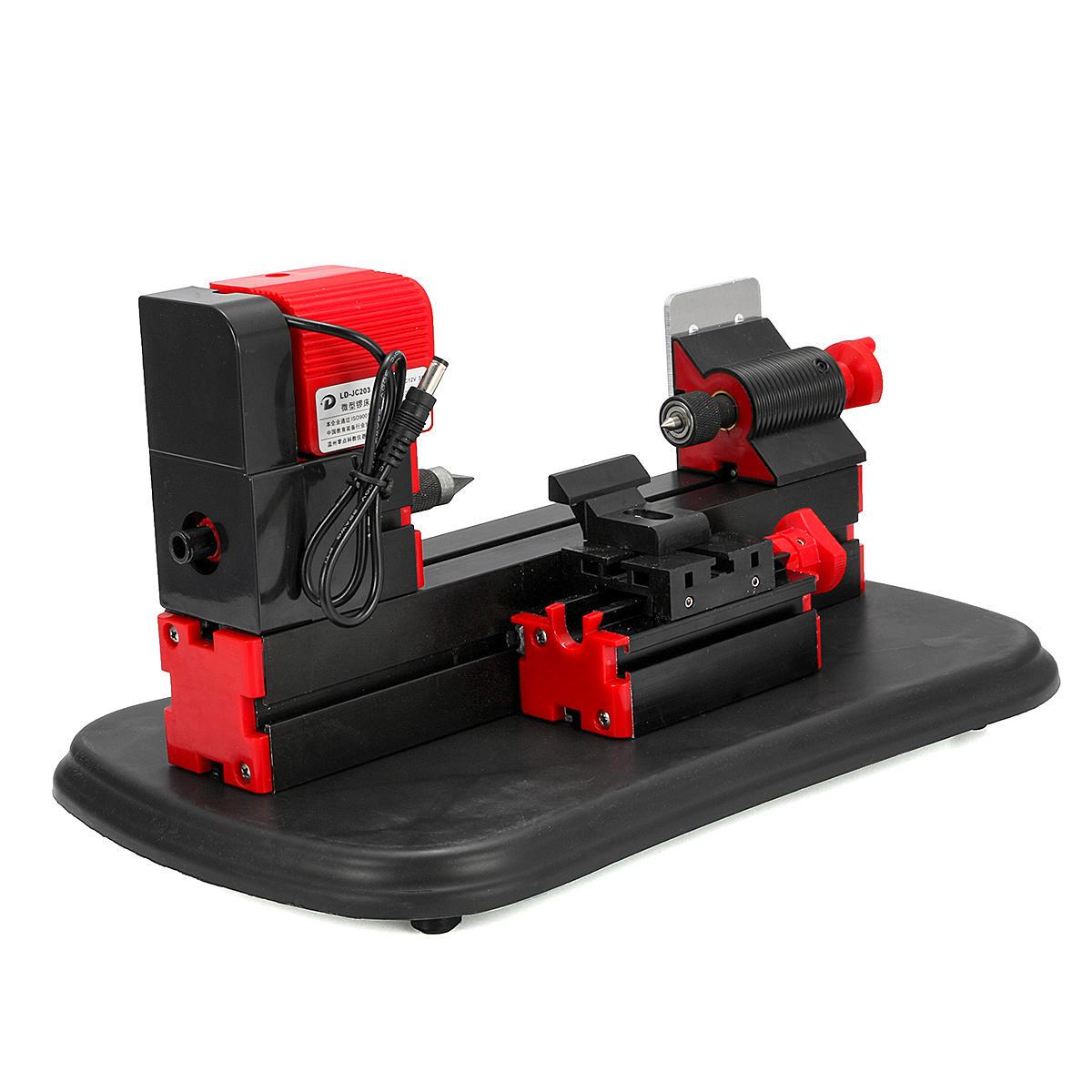 Máy tiện làm việc bằng kim loại cơ động 36C 36W Mini Công cụ chế biến gỗ dành cho người mẫu