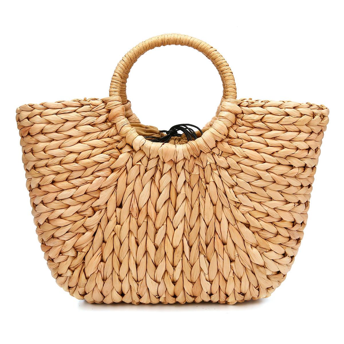 a9ba2cc5a7d7 JOSEKO Straw Bag Women Summer Rattan Bag Handmade Woven Circle Bohemia  Beach Handbag