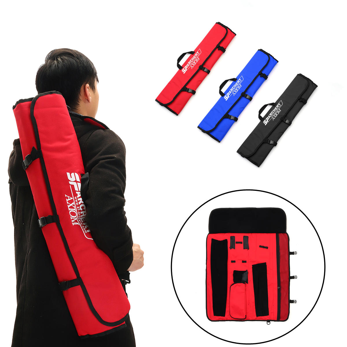 Archery Portable Bow Bag Case Recurve Bow Take Down Bag for Shooting Hunting