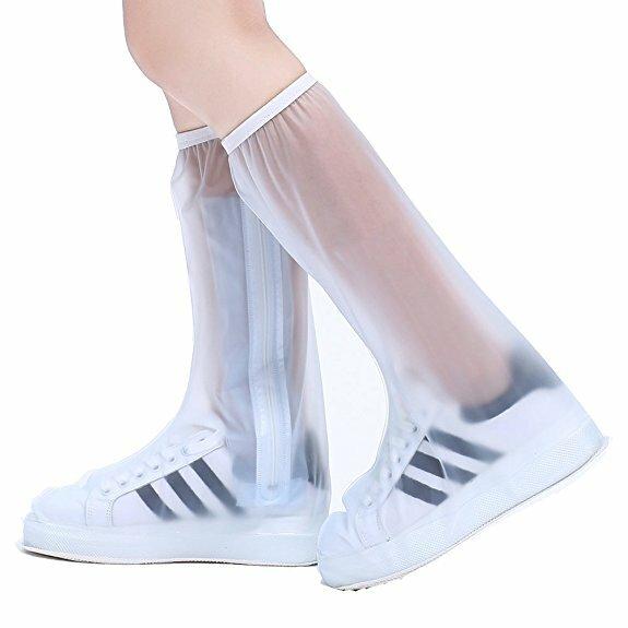 Pvc women man rain shoes cover zipper