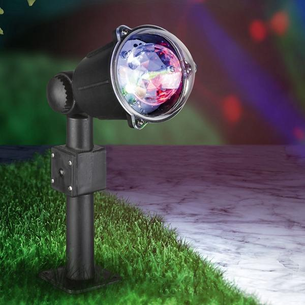 DC12V 3.6W Colorful Rotating Crystal Ball LED Christmas Projection Stage Party Light for Outdoor