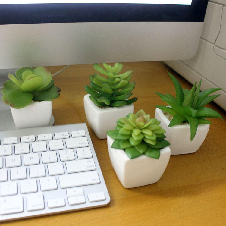 Simulation Mini Plant Small Potted Four Colors Optional