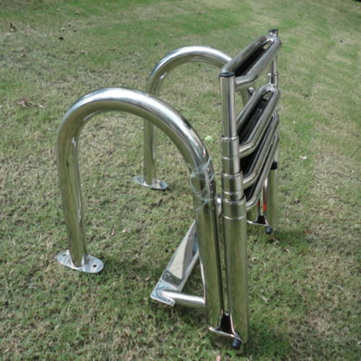 Stainless Steel Swimming Pool 4 Step Ladder Dock Boat