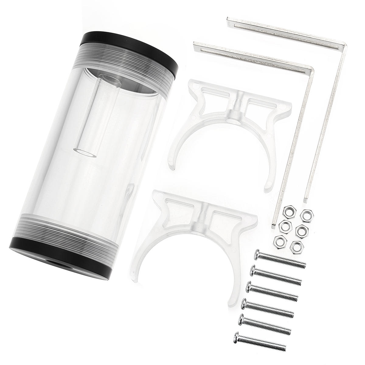 G1/4 50mmx110mm Cylinder Reservoir Water Cooling Tank For PC Computer Cooling