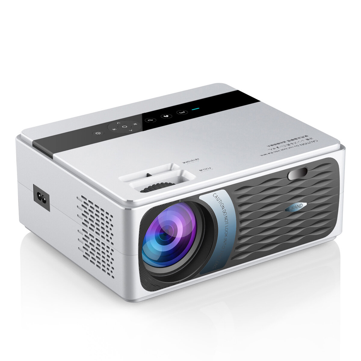 YJMOYE YJ600 LCD Projector 3800 Lumens Support 1080P Smart Wireless bluetooth LED Projector Home Theater WiFi Version