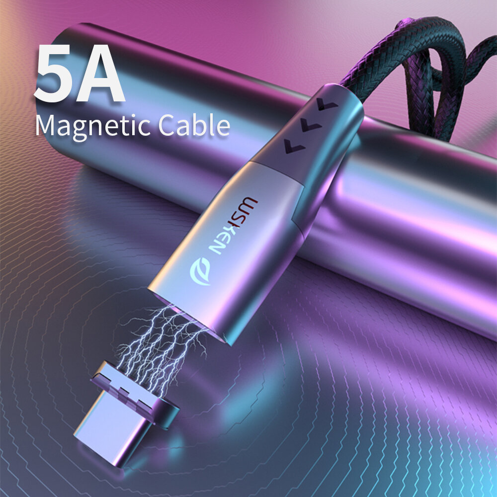 WSKEN Shark X5 Magnetic Data Cable USB Type C Magnet Charge Core For iPhone XS 11Pro Mi10 Note 9S S20+ Note 20