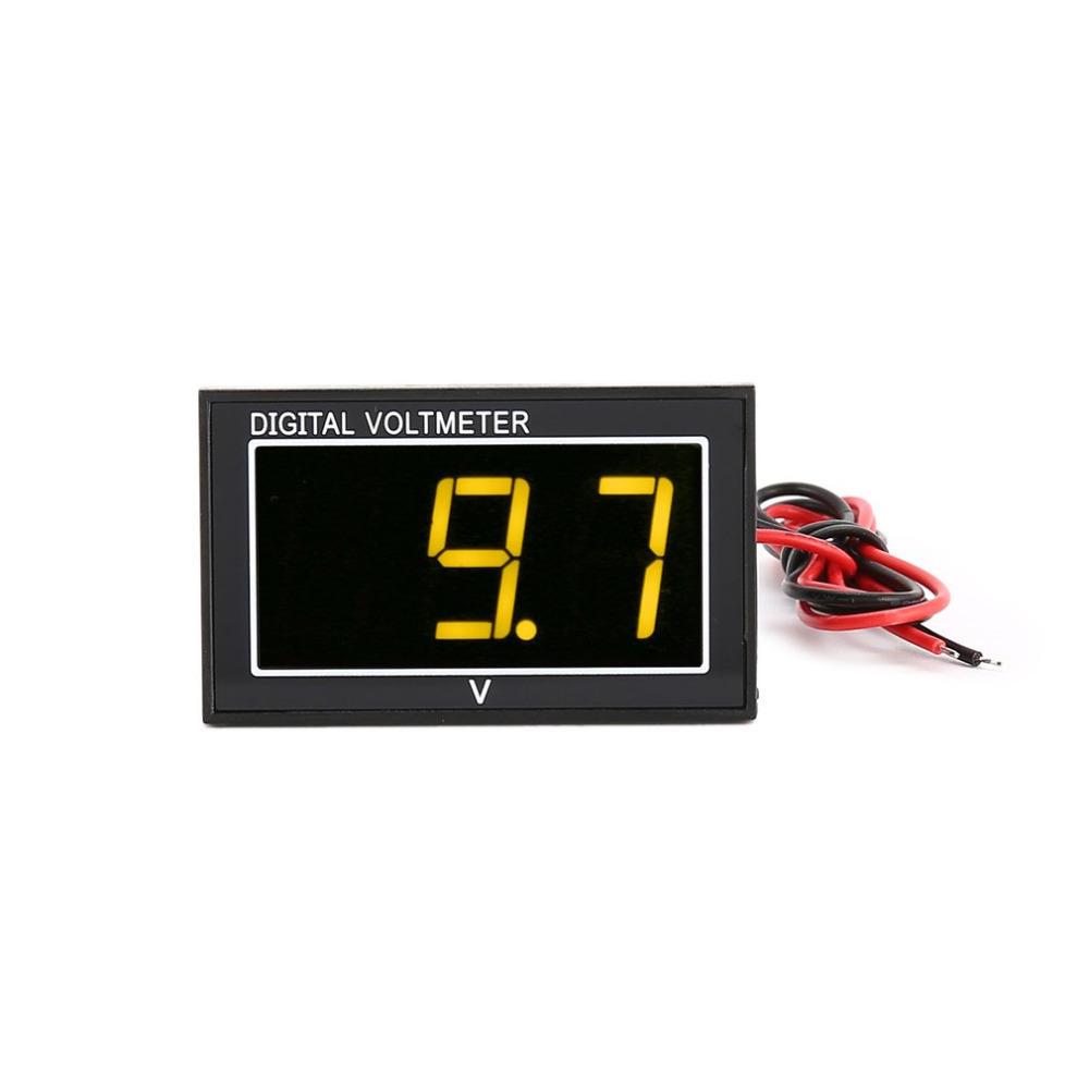DC 2.5-30V 2-Wire LED Digital Display Panel Voltmeter Electric Voltage Meter Volt Tester фото