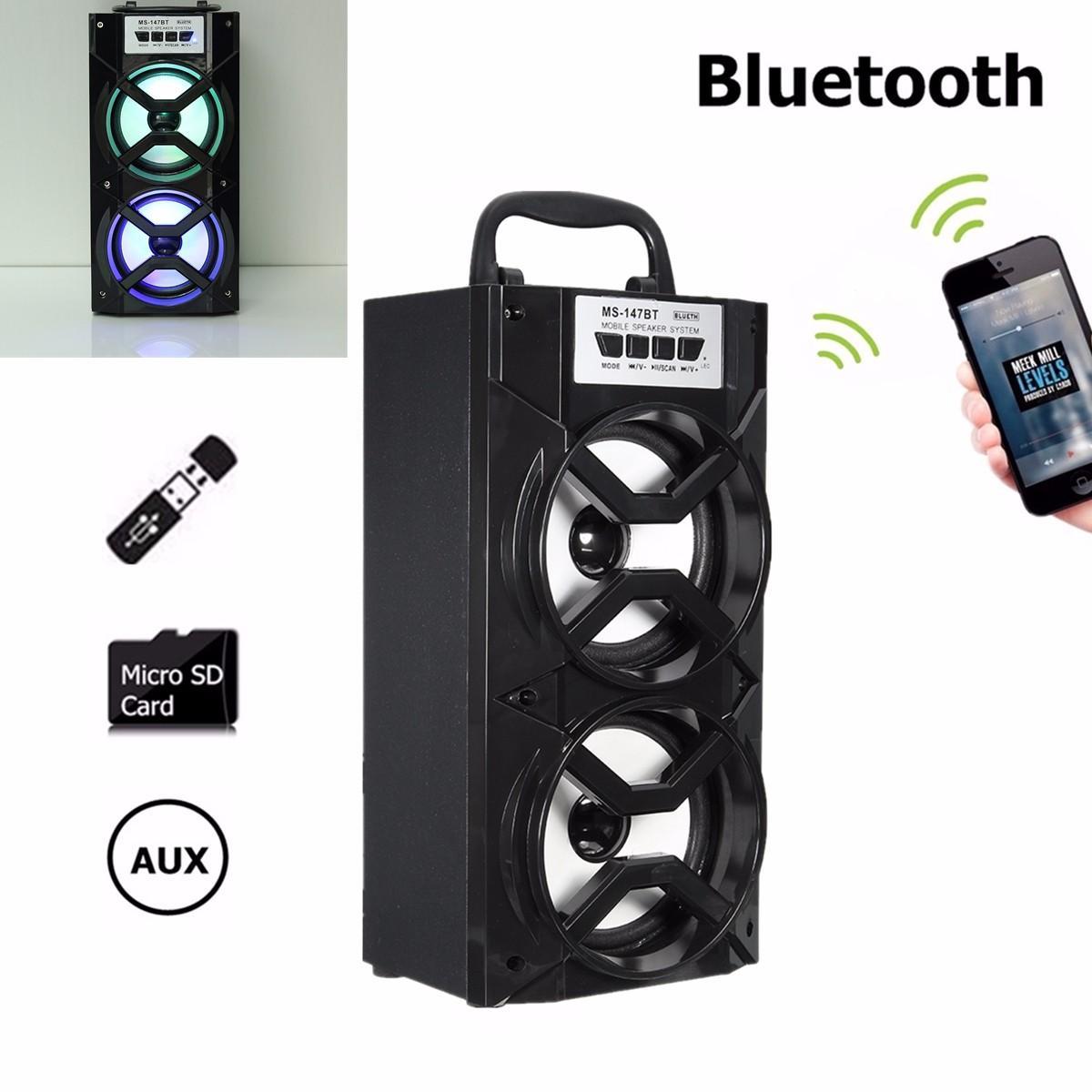MS-147BT Portable Outdoor bluetooth Wireless Super Bass Speaker USB TF AUX  FM Radio