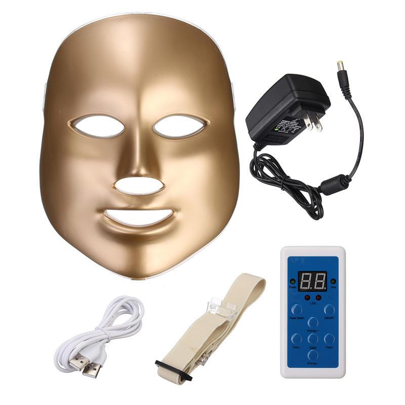 एलईडी फोटॉन त्वचा कायाकल्प चेहरे की गर्दन मास्क सौंदर्य थेरेपी मशीन मजबूती से 7 रंग
