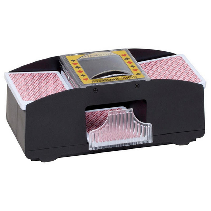 1 2 Deck Of Playing Card Poker Automatic Plastic Card Shuffler