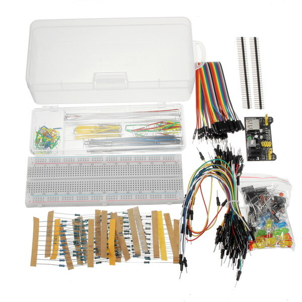 Arduino scm & diy Geekcreit Power Supply Module 830 Hole Breadboard Resistor Capacitor LED Kit фото