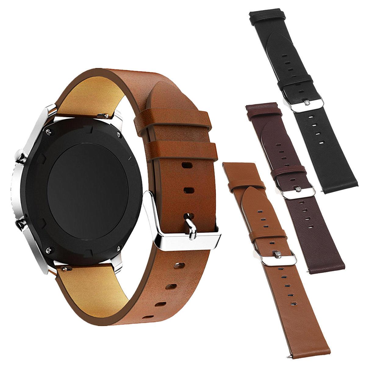 22мм кожаные часы Стандарты Ремень для Samsung Gear S3 Frontier / Classic