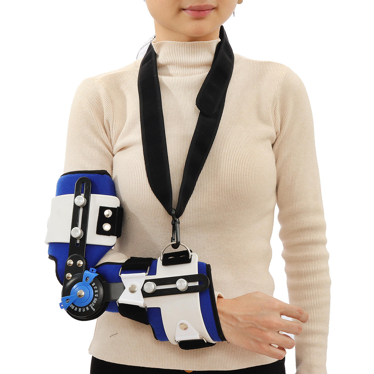 Adjustable Elbow Orthosis Arm Sling Support Brace Fracture Fixation Device Fracture Arm Protector