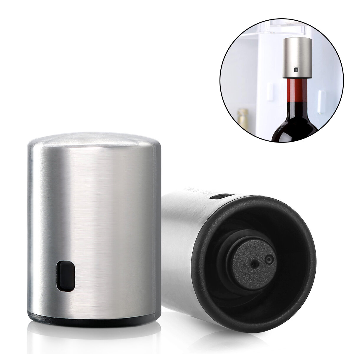 Circle Joy Smart Bottle Stopper Stainless Steel Vacuum Memory Bottle Stopper Stopper Drinking Corks from XIAOMI Youpin фото