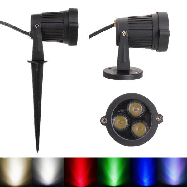 6W LED Flood Light Spot Light With Rod For Landscape Garden IP65 AC 85-265V
