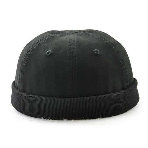 Män Plus Storlek Mössor Retro Solid Brimless Hat Justerbar Varm Skullcap Sailor Cap