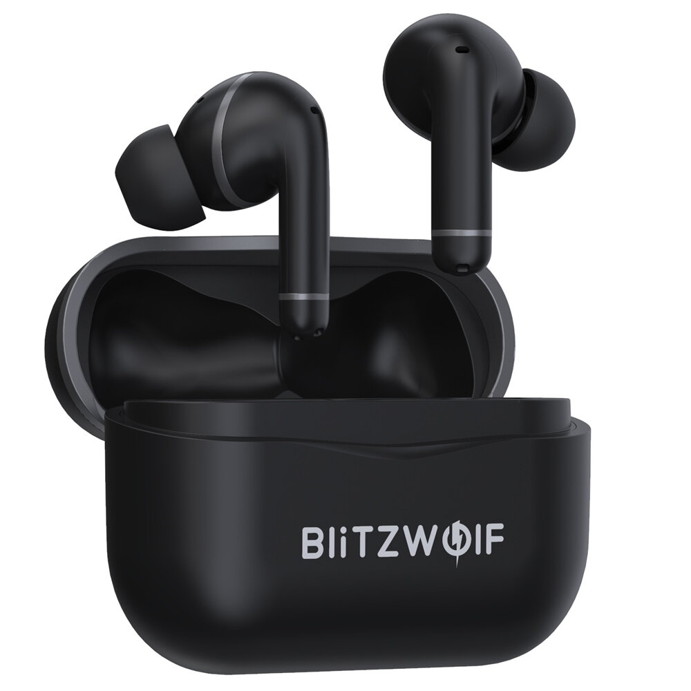 BlitzWolf® BW-ANC3 bluetooth V5.0 Earphone Dual Active Noise Cancelling HiFi Stereo Bass Sports Headphone with 6 Mic HD Calls