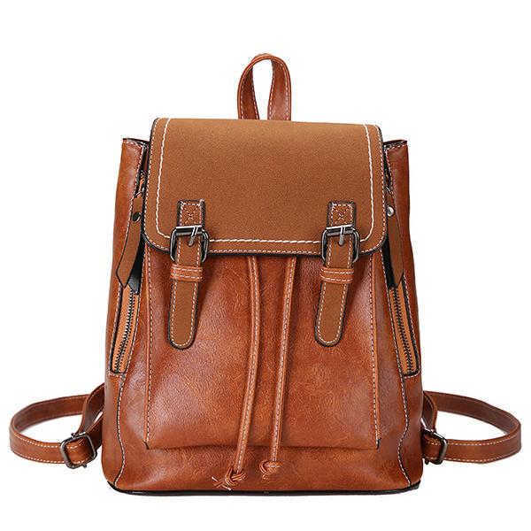Women Reteo Vintage Multi-Carry Large Capacity Backpack Tavel Bag Shoulder Bag